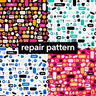 Conjunto de padrão de reparação sem costura