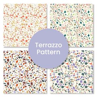 Conjunto de padrão de terrazzo de qualidade premium.