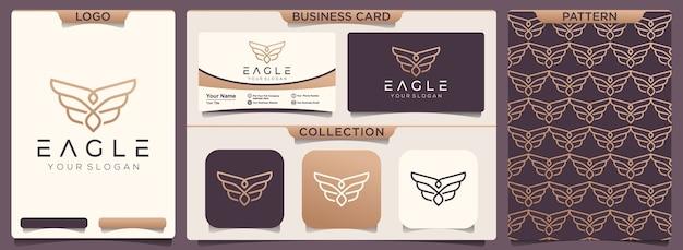 Conjunto de padrão e modelo de design de cartão de visita