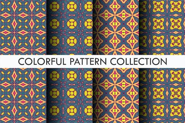Conjunto de padrão estético de outono