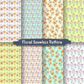Conjunto de padrão floral vintage sem costura para impressões de design e moda