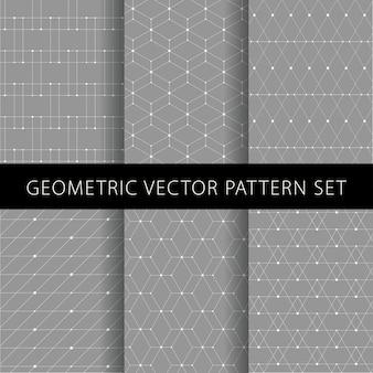 Conjunto de padrão geométrico abstrato