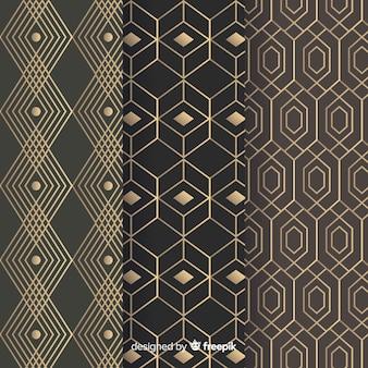 Conjunto de padrão geométrico de luxo