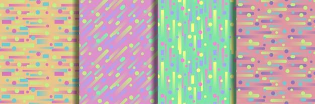 Conjunto de padrão geométrico sem emenda para papéis de parede e estampas têxteis