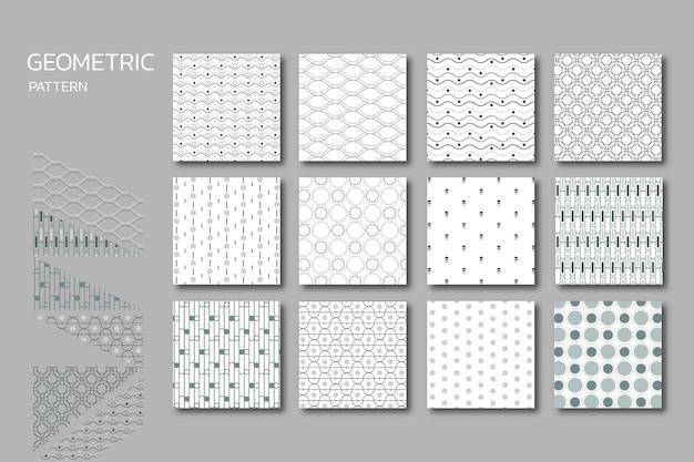 Conjunto de padrão geométrico sem emenda