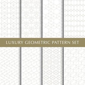 Conjunto de padrão geométrico vetorial abstrato