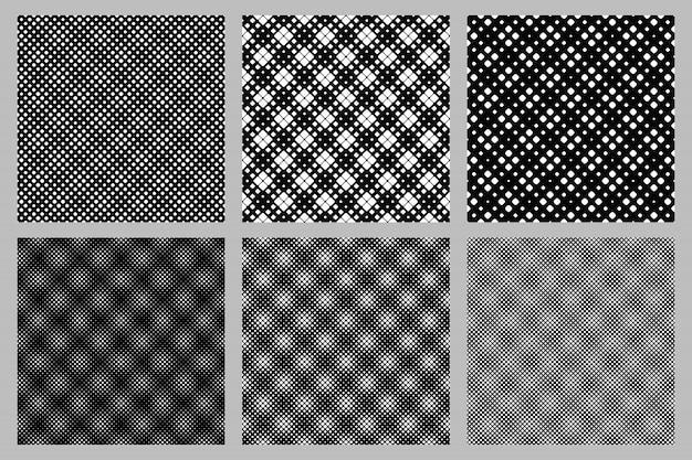Conjunto de padrão quadrado arredondado sem costura