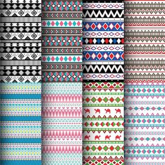 Conjunto de padrão sem emenda asteca