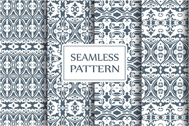 Conjunto de padrão sem emenda barroco.
