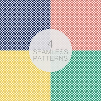 Conjunto de padrão sem emenda de bolinhas. os círculos brancos sobre um fundo azul. textura para xadrez, roupas, camisas, vestidos e outros produtos têxteis. ilustração vetorial.