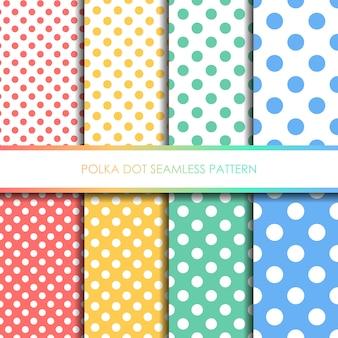 Conjunto de padrão sem emenda de bolinhas pastel