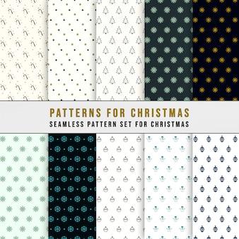 Conjunto de padrão sem emenda de natal clássico simples