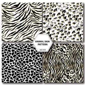 Conjunto de padrão sem emenda de pele de animal