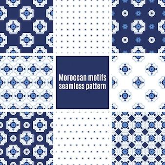 Conjunto de padrões azulejos portugueses