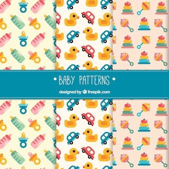 Conjunto de padrões de bebê plano