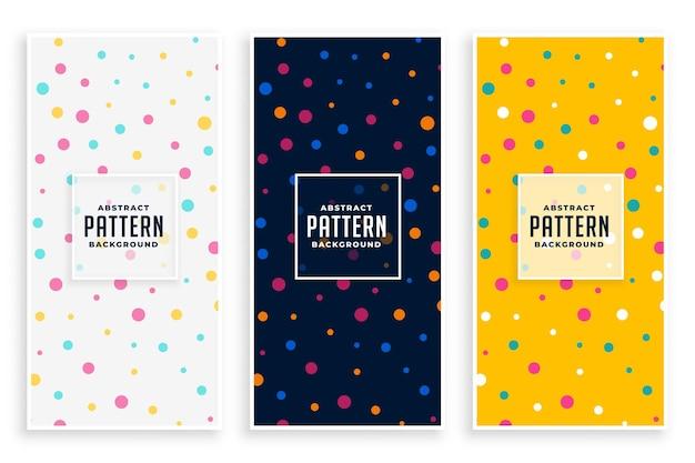 Conjunto de padrões de círculos coloridos para festa de aniversário