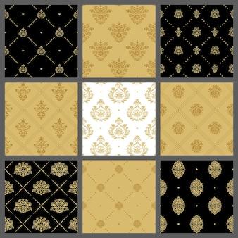Conjunto de padrões de costura real medieval