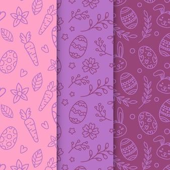 Conjunto de padrões de dia de páscoa