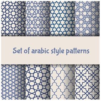 Conjunto de padrões de estilo marroquino e árabe