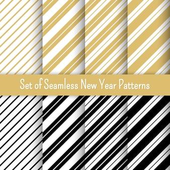 Conjunto de padrões de festa de ano novo. para banners e convites.
