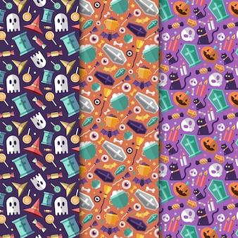 Conjunto de padrões de festival de halloween