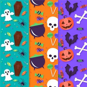 Conjunto de padrões de halloween