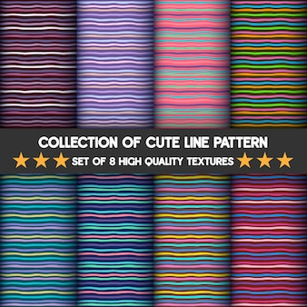 Conjunto de padrões de listras horizontais