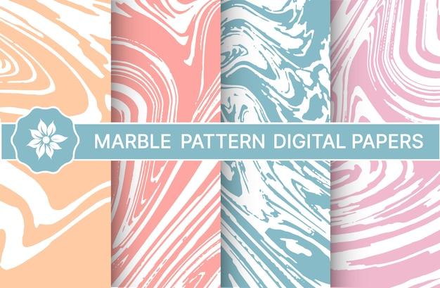 Conjunto de padrões de mármore roxos