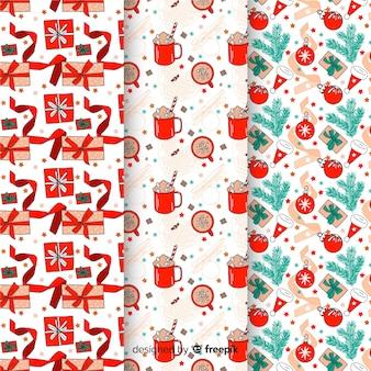 Conjunto de padrões de natal ign