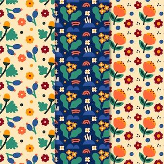 Conjunto de padrões de primavera colorida