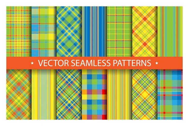 Conjunto de padrões de tartan