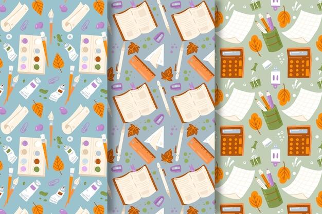 Conjunto de padrões de volta às aulas
