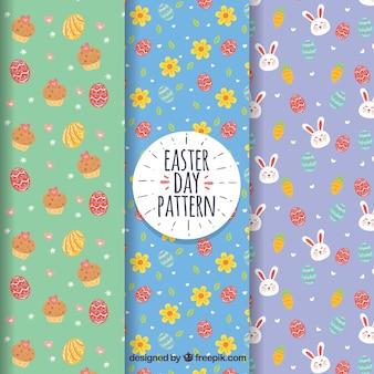 Conjunto de padrões do dia de páscoa