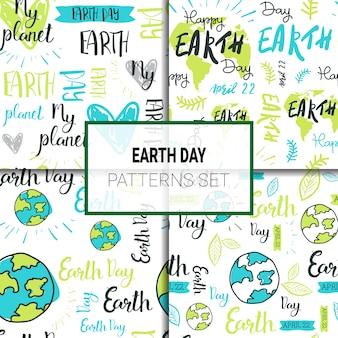 Conjunto de padrões do dia internacional da terra