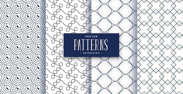 Conjunto de padrões geométricos abstratos