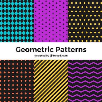 Conjunto de padrões geométricos de halloween
