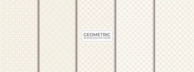 Conjunto de padrões geométricos sem costura