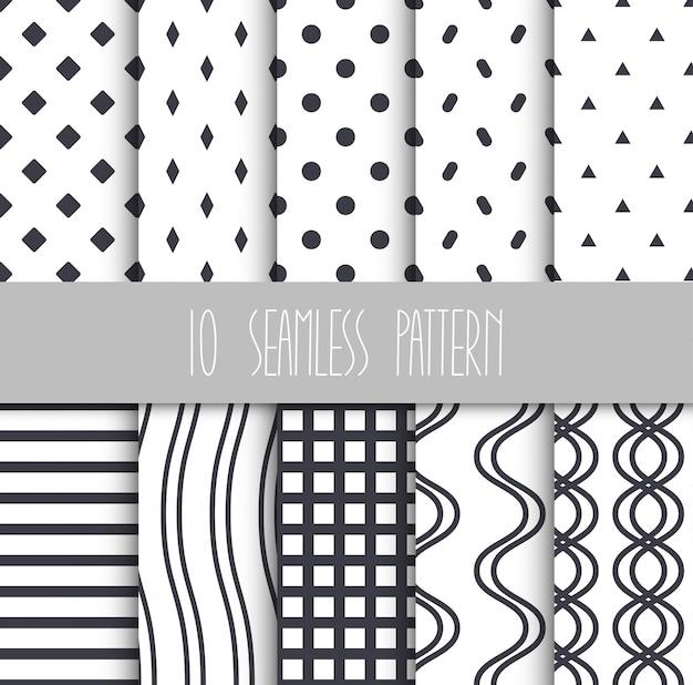 Conjunto de padrões geométricos sem emenda