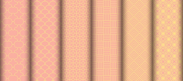 Conjunto de padrões geométricos sem emenda.