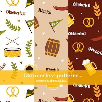 Conjunto de padrões para festa alemã