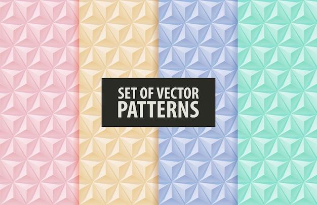 Conjunto de padrões piramidais extrudados.