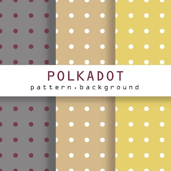 Conjunto de padrões polkadot