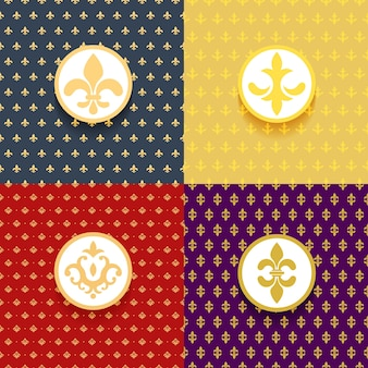 Conjunto de padrões reais. decoração de elementos vitoriana, luxo ornamentado