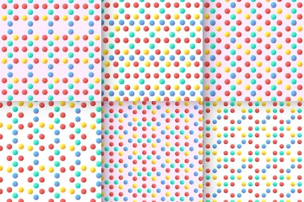 Conjunto de padrões sem costura infantis