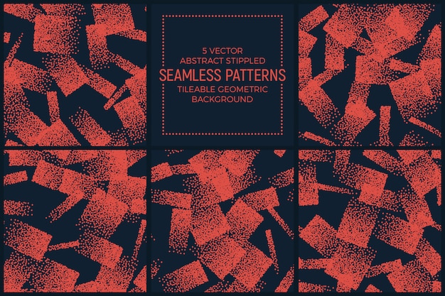 Conjunto de padrões sem emenda abstratos laranja pontilhado