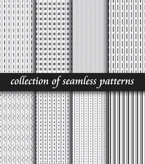 Conjunto de padrões sem emenda de art deco. texturas modernas elegantes