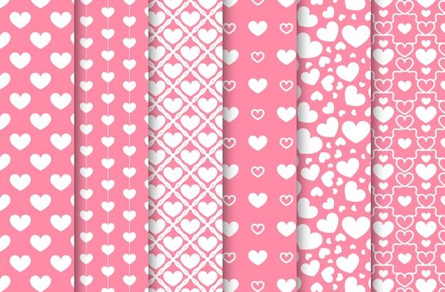 Conjunto de padrões sem emenda de dia dos namorados