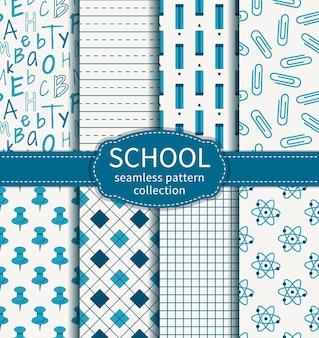Conjunto de padrões sem emenda de educação e escola