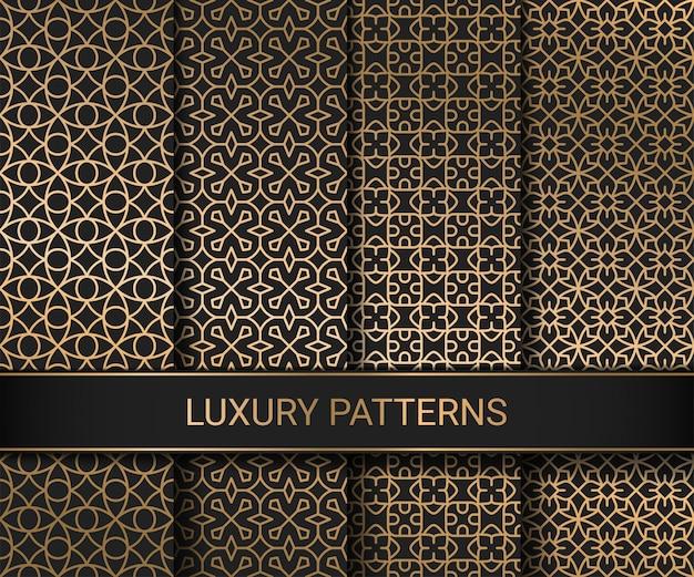 Conjunto de padrões sem emenda de luxo