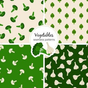 Conjunto de padrões sem emenda de vegetais
